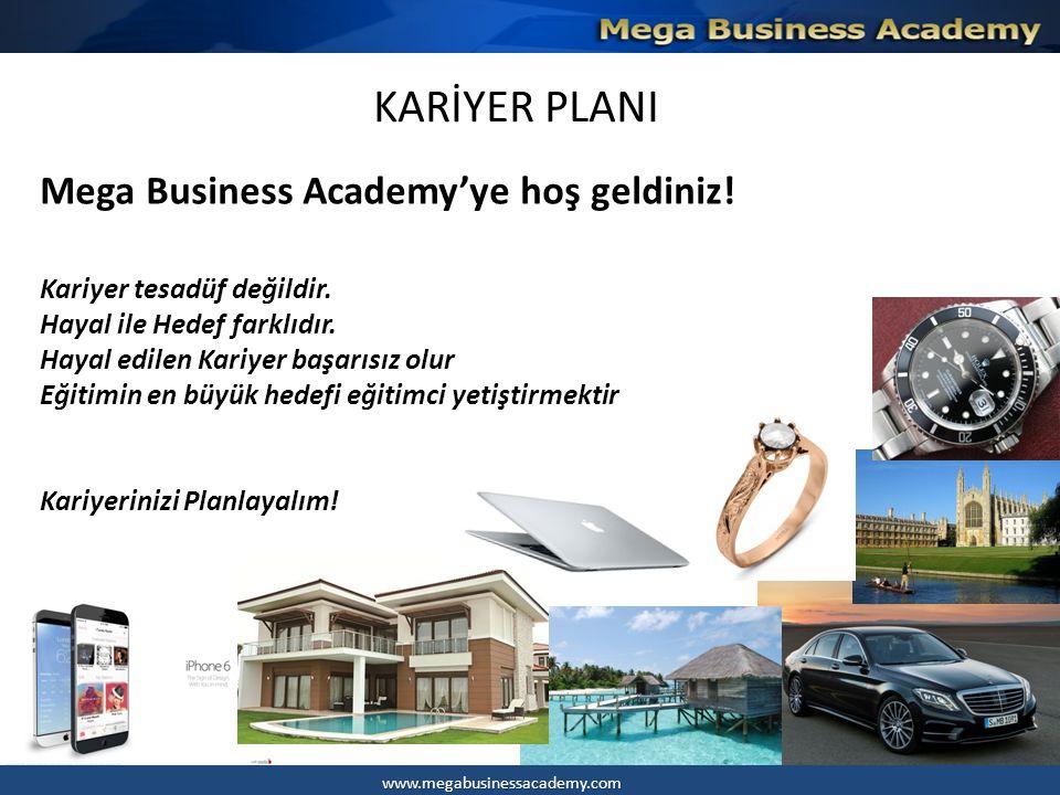 KARİYER PLANI Mega Business Academy'ye hoş geldiniz!