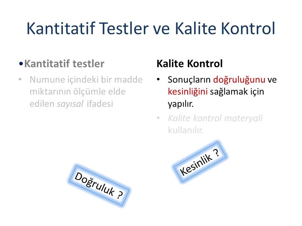 Kantitatif Testler ve Kalite Kontrol