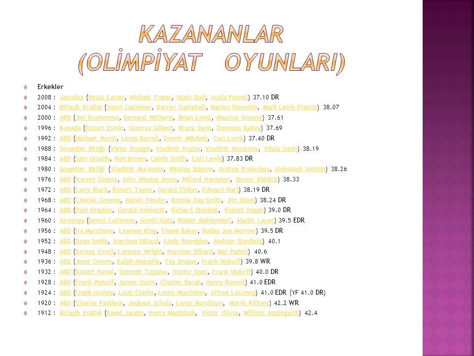 KAZANANLAR (OLİMPİYAT OYUNLARI)