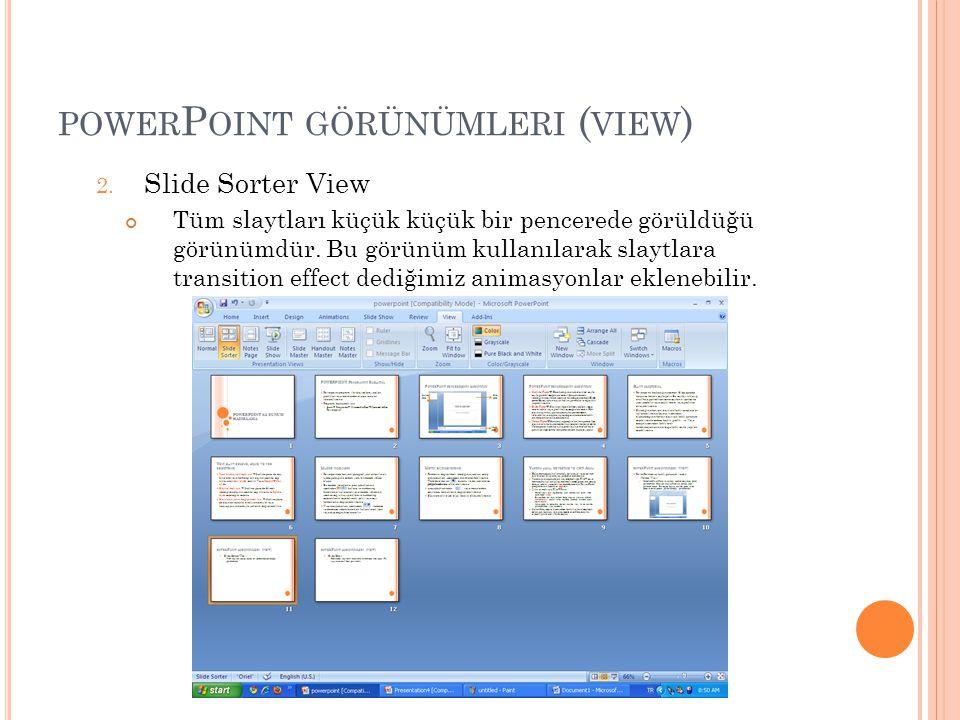 powerPoint görünümleri (view)