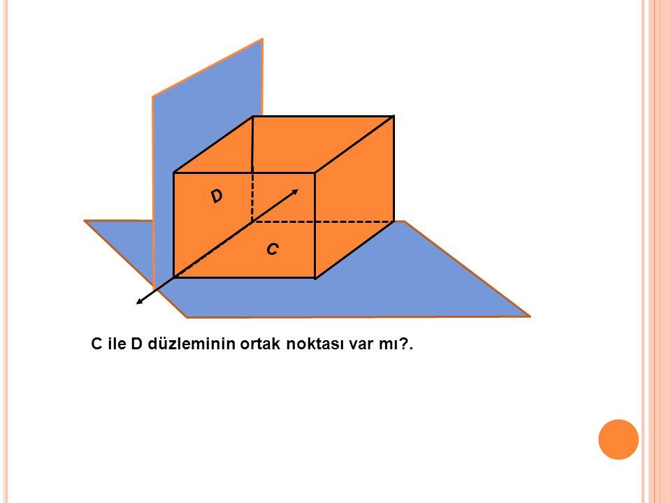 D C C ile D düzleminin ortak noktası var mı .
