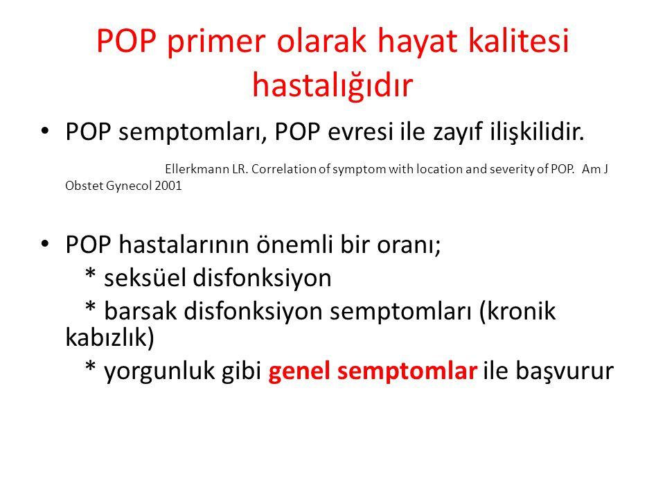 POP primer olarak hayat kalitesi hastalığıdır