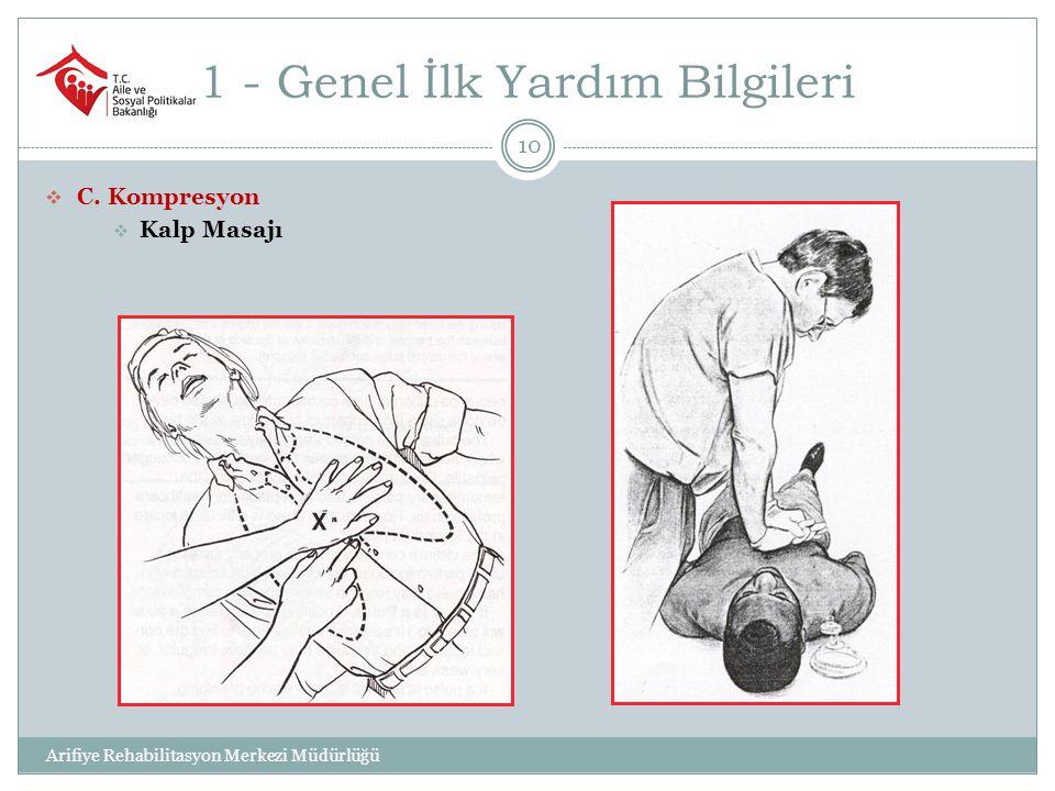 1 - Genel İlk Yardım Bilgileri