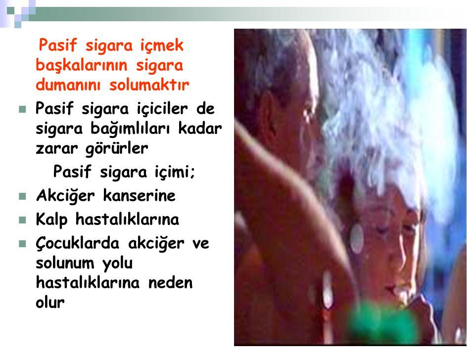 Pasif sigara içmek başkalarının sigara dumanını solumaktır