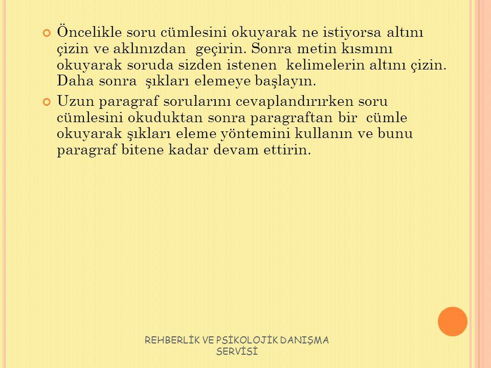 REHBERLİK VE PSİKOLOJİK DANIŞMA SERVİSİ