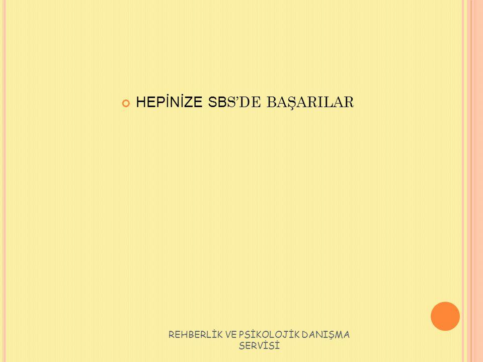 HEPİNİZE SBS'DE BAŞARILAR