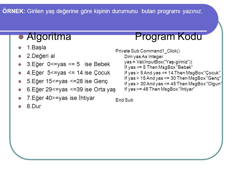 Algoritma Program Kodu