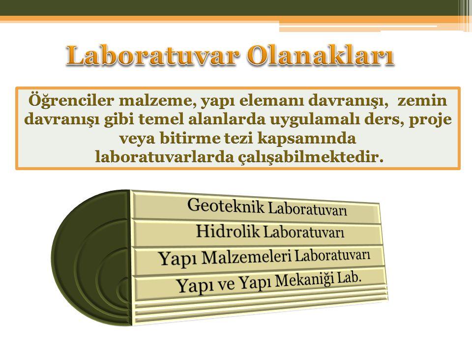 Laboratuvar Olanakları laboratuvarlarda çalışabilmektedir.