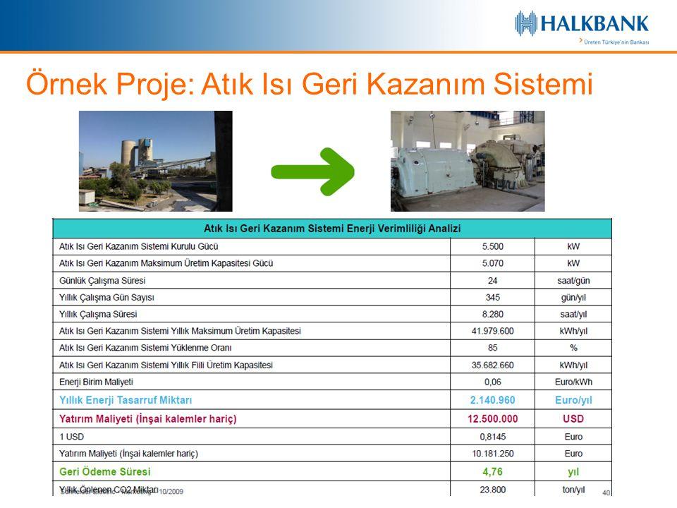 Örnek Proje: Atık Isı Geri Kazanım Sistemi