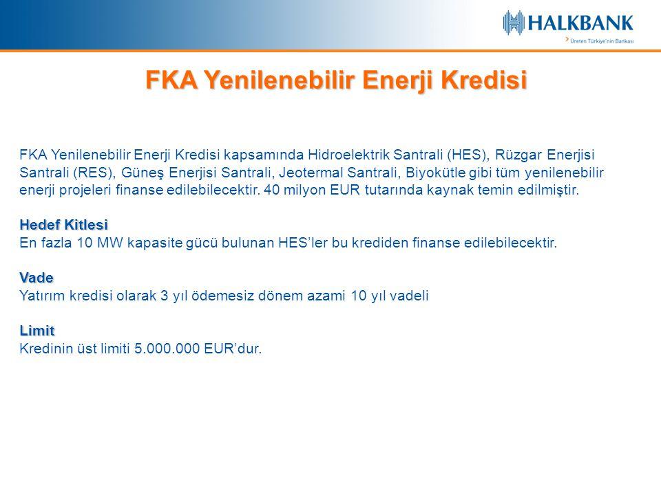 FKA Yenilenebilir Enerji Kredisi