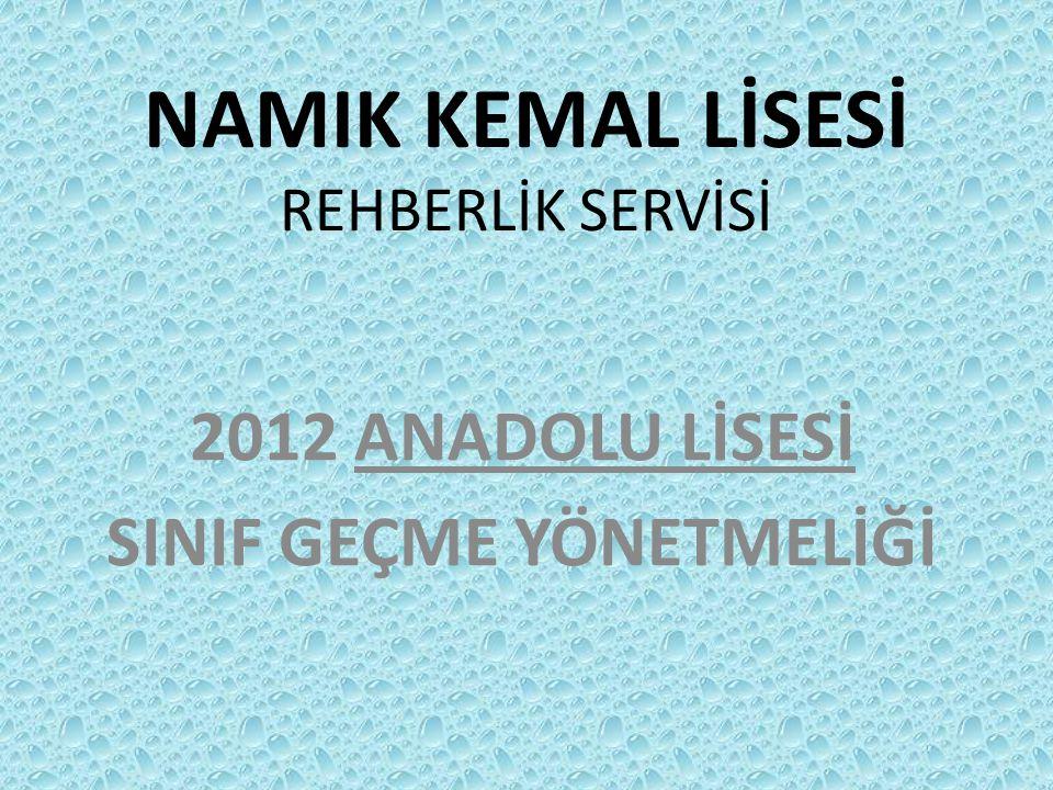 NAMIK KEMAL LİSESİ REHBERLİK SERVİSİ