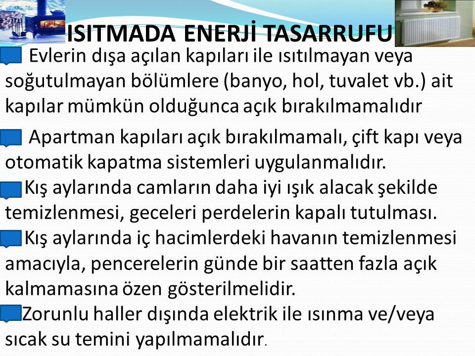 ISITMADA ENERJİ TASARRUFU
