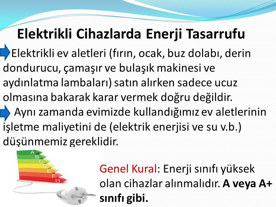 Elektrikli Cihazlarda Enerji Tasarrufu