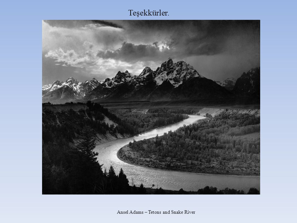 Ansel Adams – Tetons and Snake River