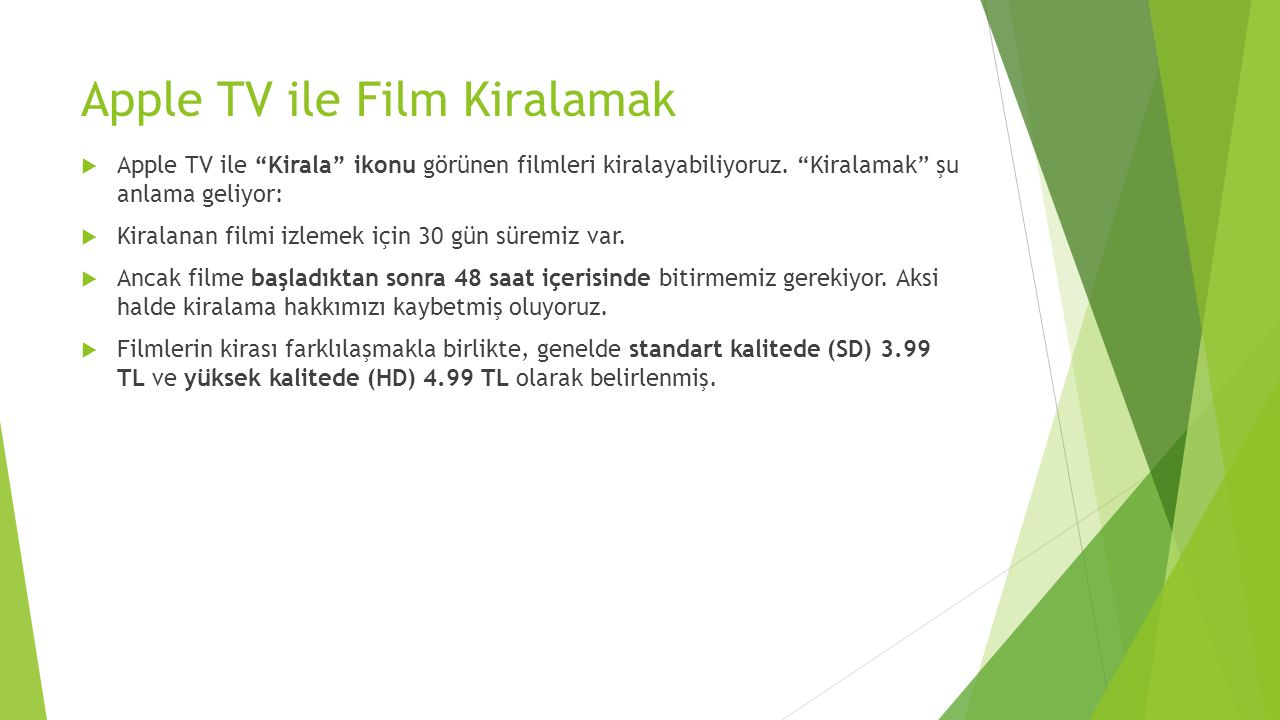 Apple TV ile Film Kiralamak