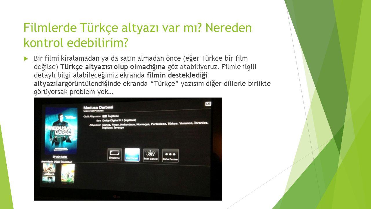 Filmlerde Türkçe altyazı var mı Nereden kontrol edebilirim