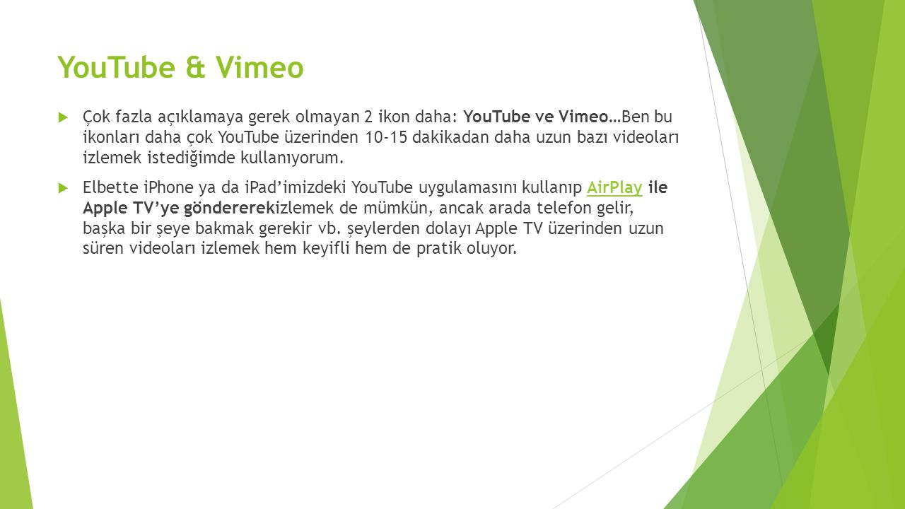 YouTube & Vimeo
