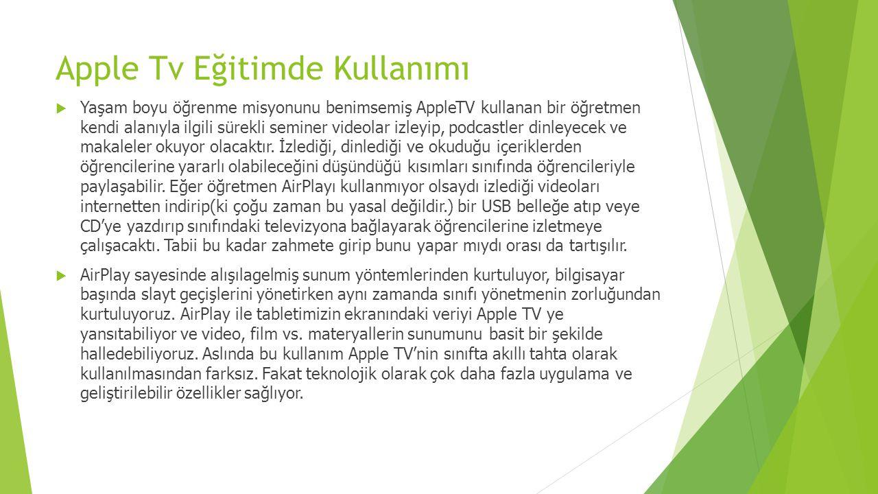 Apple Tv Eğitimde Kullanımı