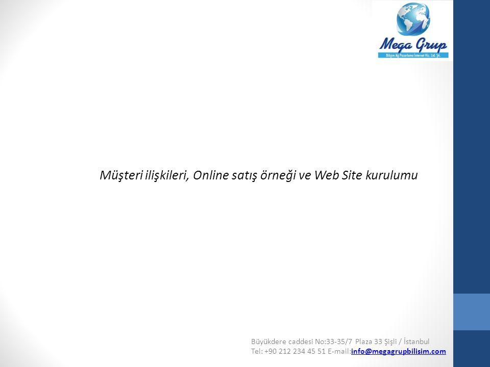 Müşteri ilişkileri, Online satış örneği ve Web Site kurulumu