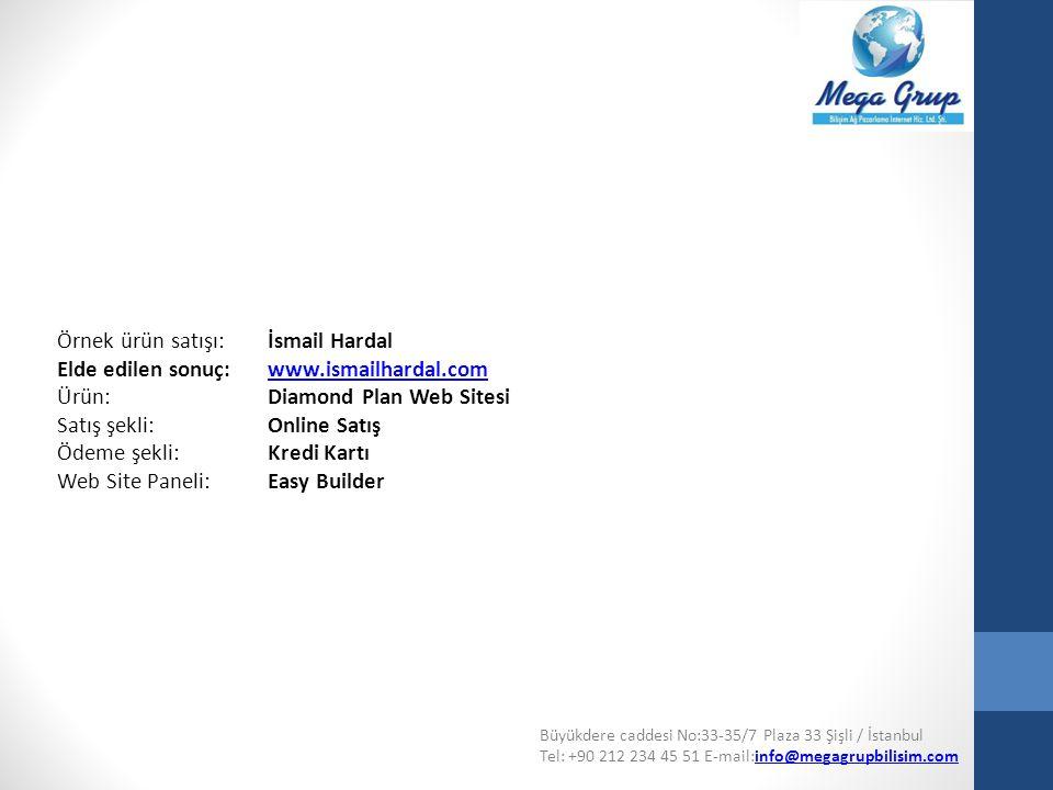 Örnek ürün satışı: İsmail Hardal