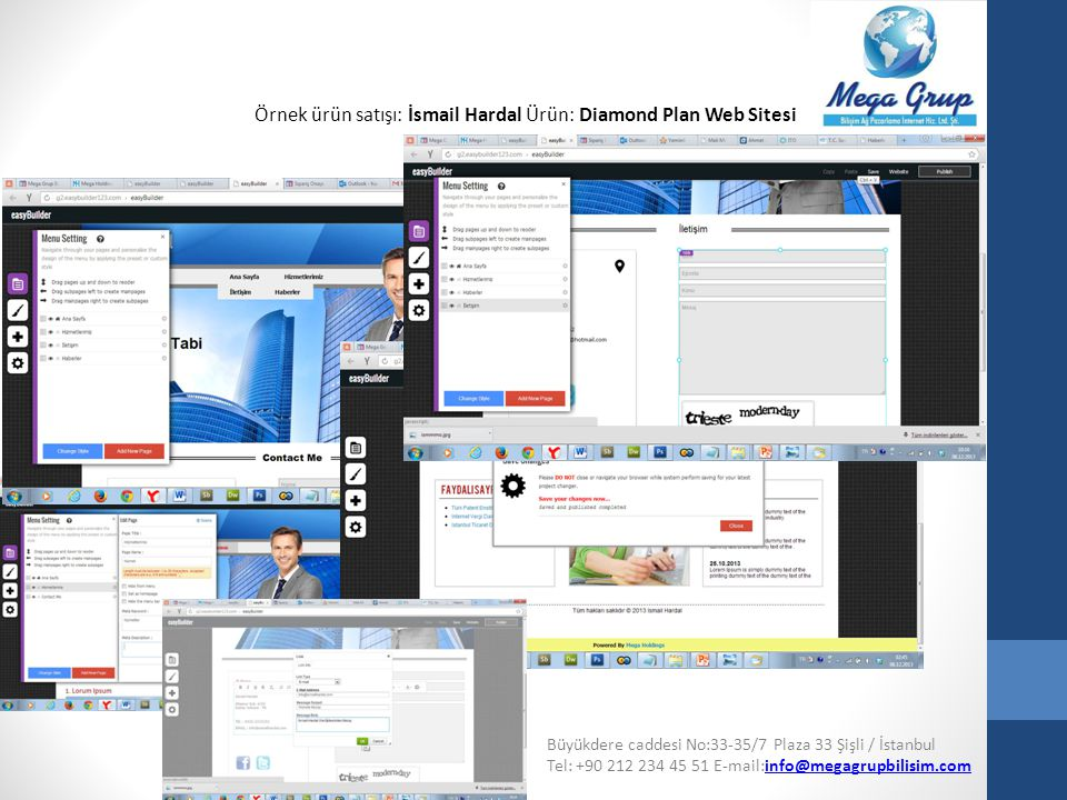 Örnek ürün satışı: İsmail Hardal Ürün: Diamond Plan Web Sitesi