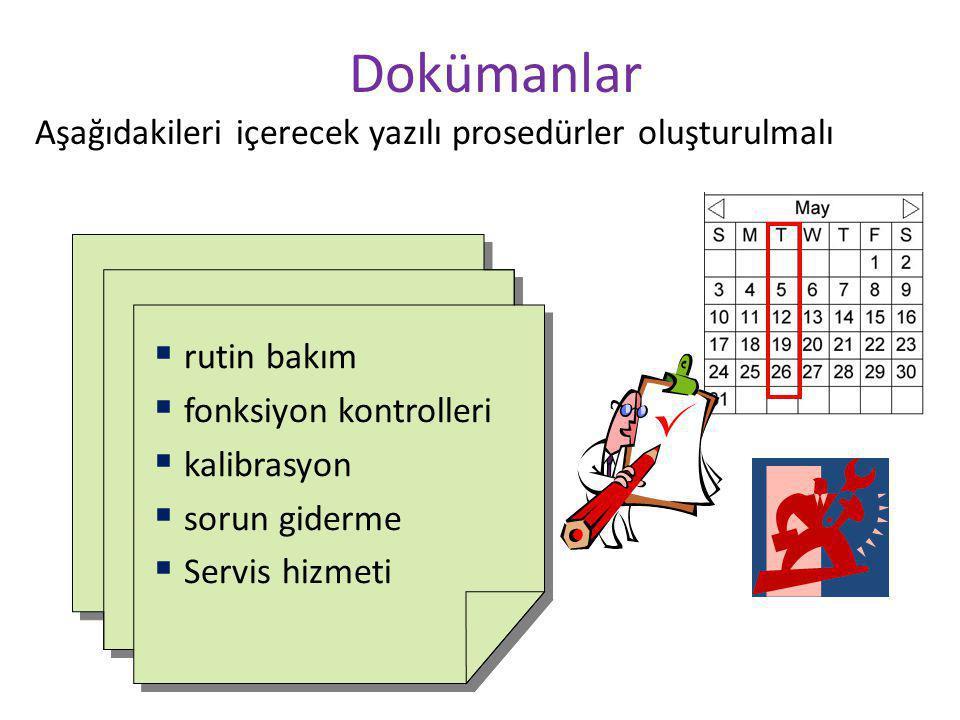 Dokümanlar Aşağıdakileri içerecek yazılı prosedürler oluşturulmalı