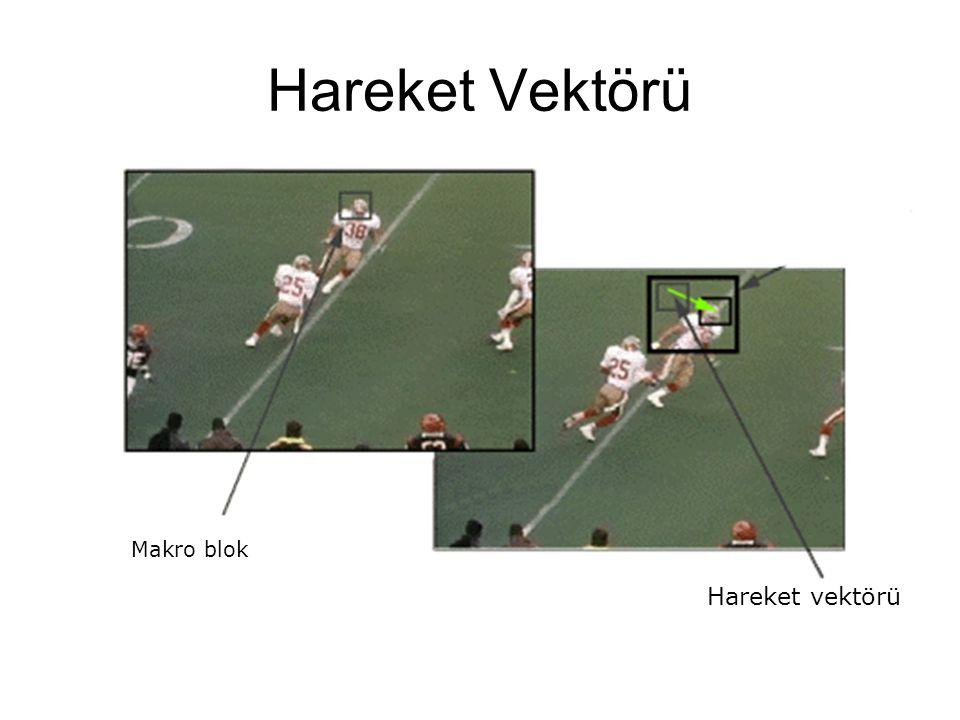 Hareket Vektörü Makro blok Hareket vektörü