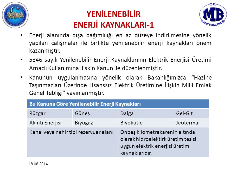 YENİLENEBİLİR ENERJİ KAYNAKLARI-1