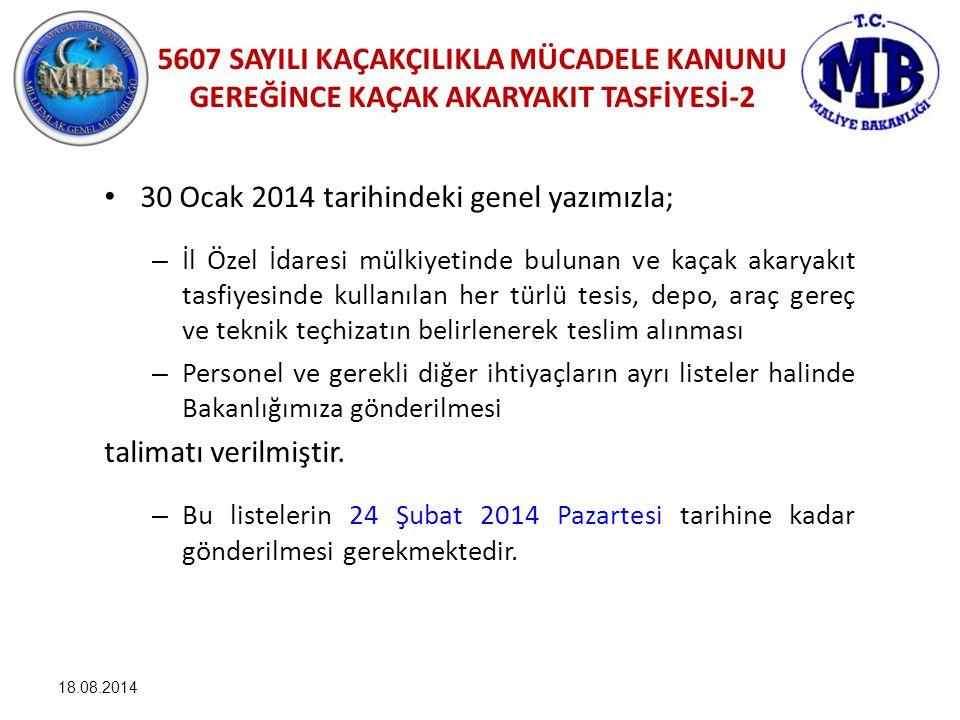 30 Ocak 2014 tarihindeki genel yazımızla;