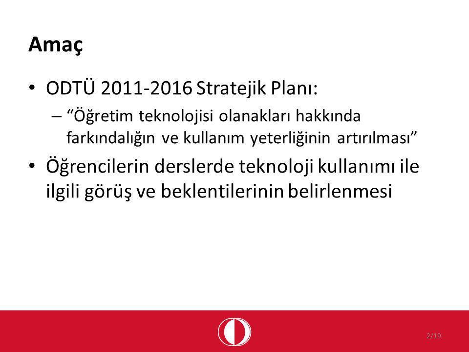 Amaç ODTÜ 2011-2016 Stratejik Planı: