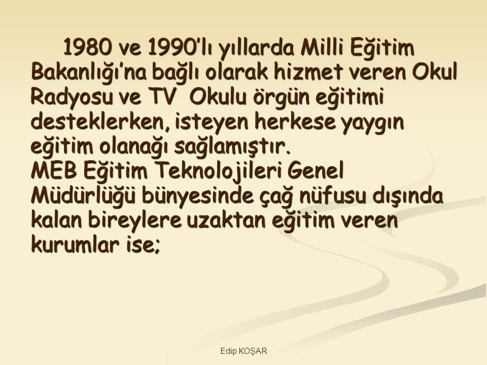 1980 ve 1990'lı yıllarda Milli Eğitim