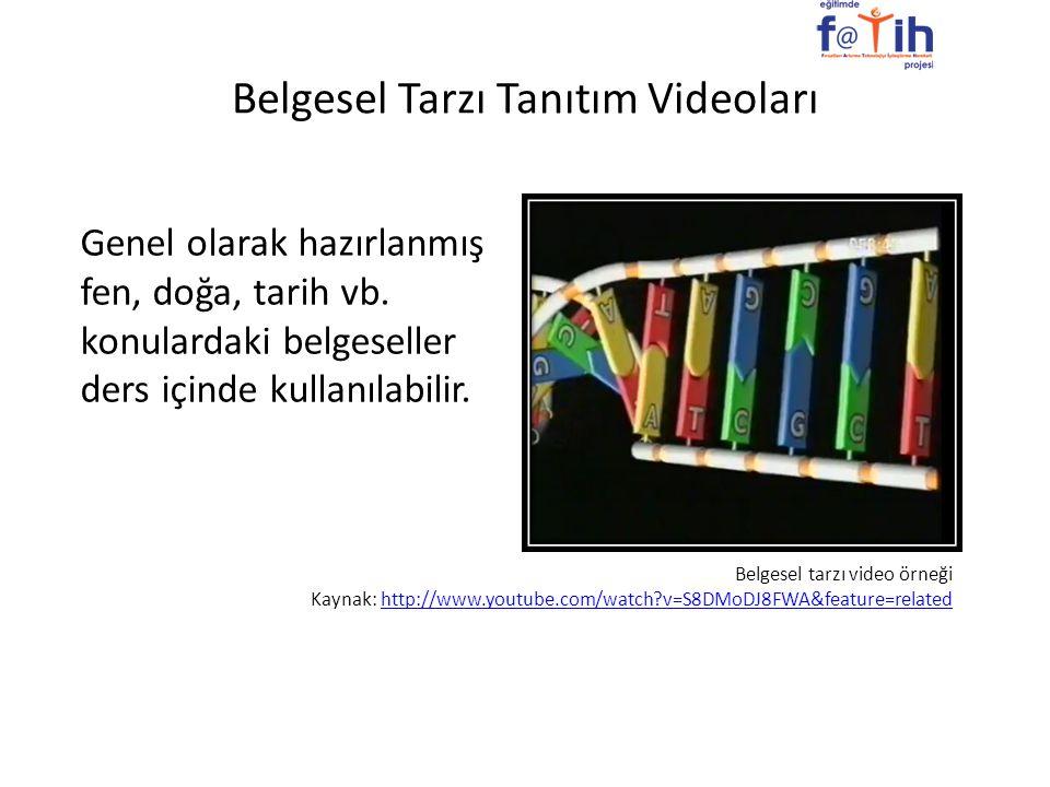 Belgesel Tarzı Tanıtım Videoları