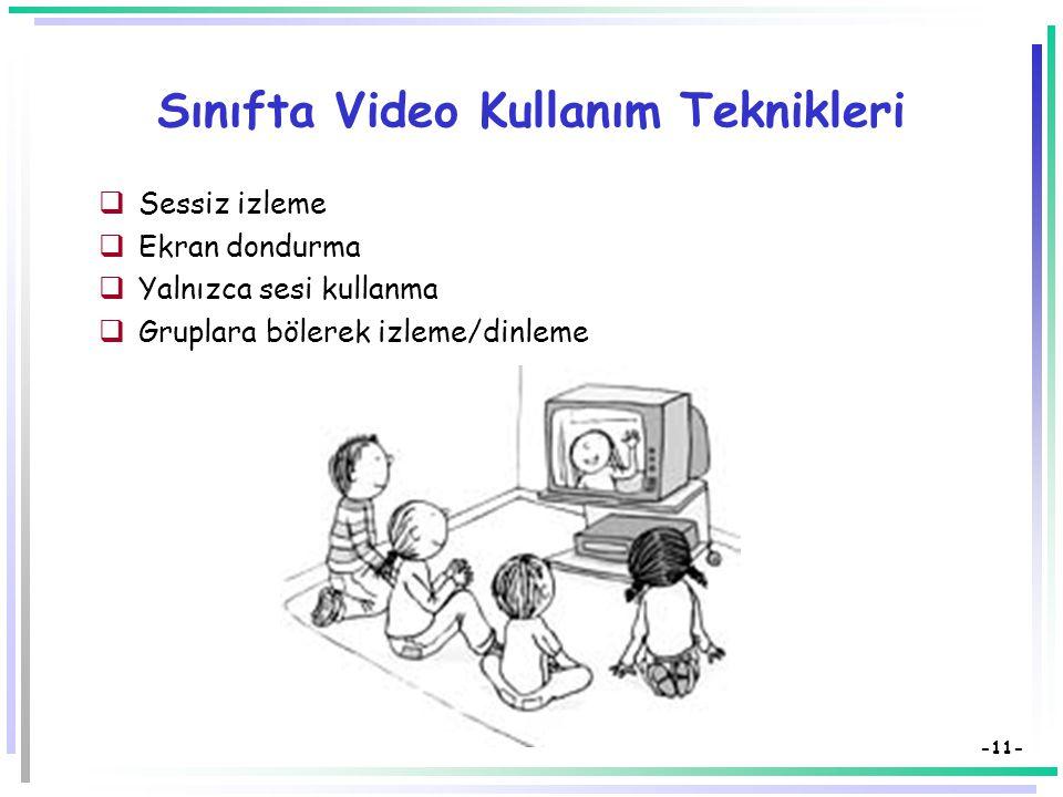 Sınıfta Video Kullanım Teknikleri