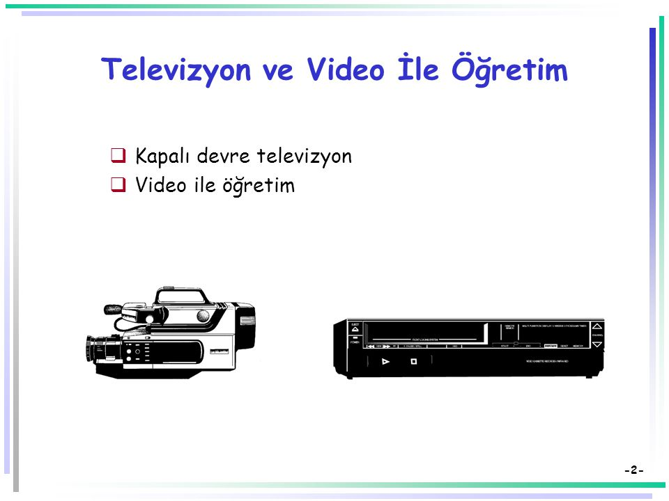 Televizyon ve Video İle Öğretim