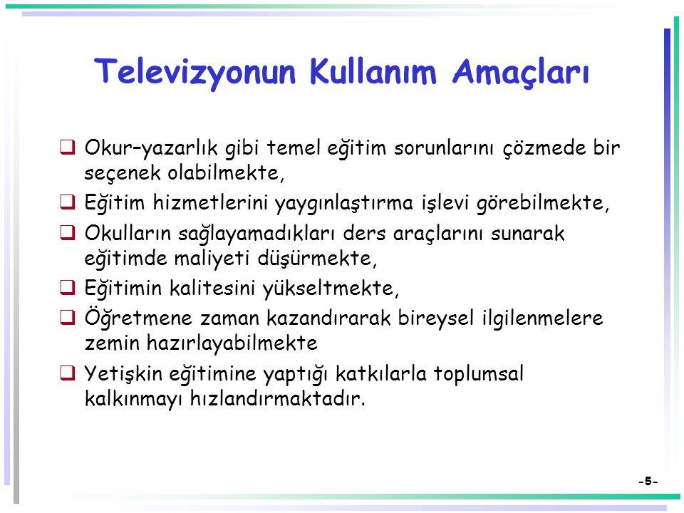 Televizyonun Kullanım Amaçları
