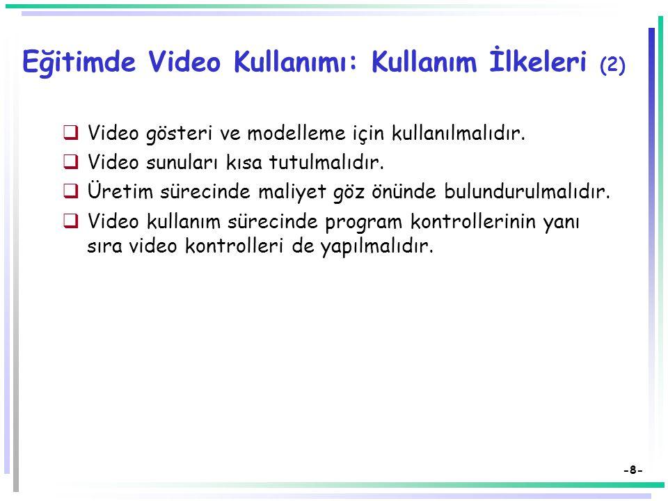 Eğitimde Video Kullanımı: Kullanım İlkeleri (2)