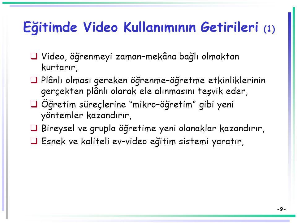 Eğitimde Video Kullanımının Getirileri (1)