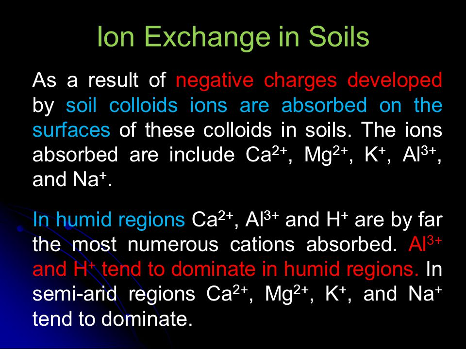 Ion Exchange in Soils