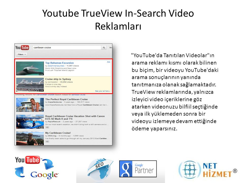 Youtube TrueView In-Search Video Reklamları