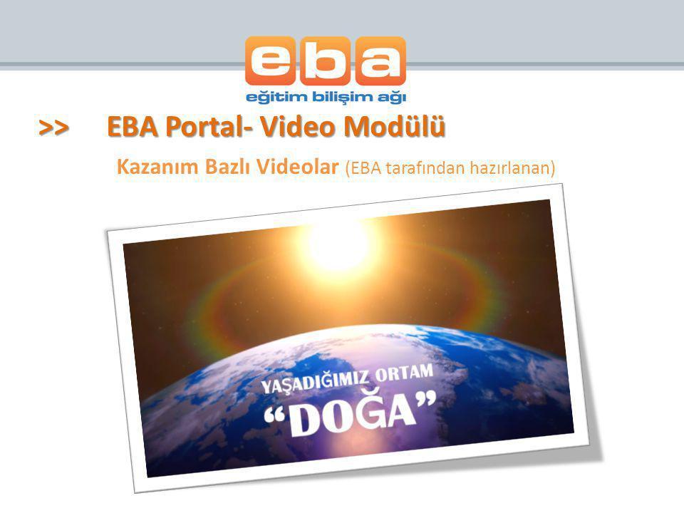 Kazanım Bazlı Videolar (EBA tarafından hazırlanan)