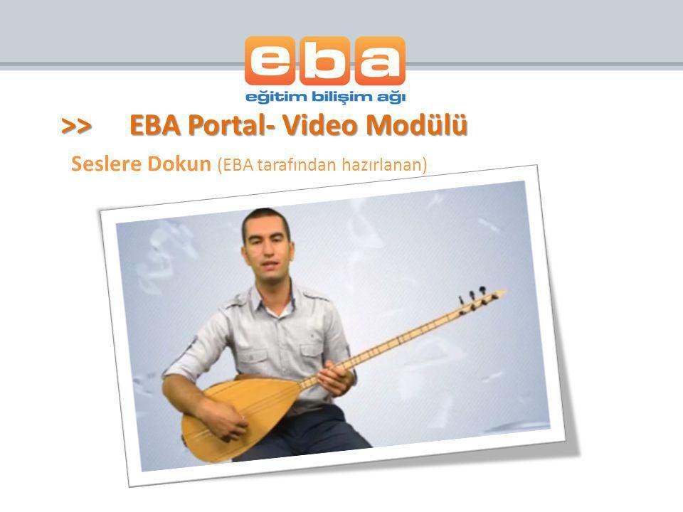Seslere Dokun (EBA tarafından hazırlanan)