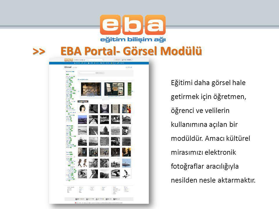 >> EBA Portal- Görsel Modülü