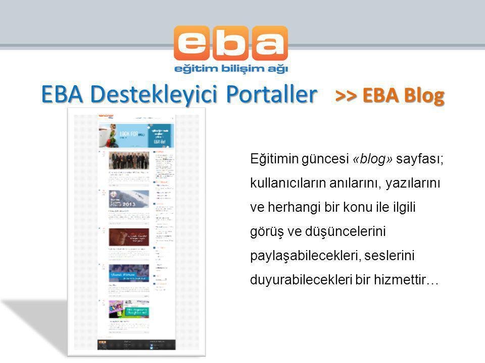 EBA Destekleyici Portaller
