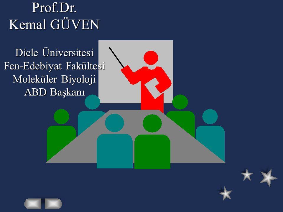 Prof.Dr. Kemal GÜVEN Dicle Üniversitesi Fen-Edebiyat Fakültesi