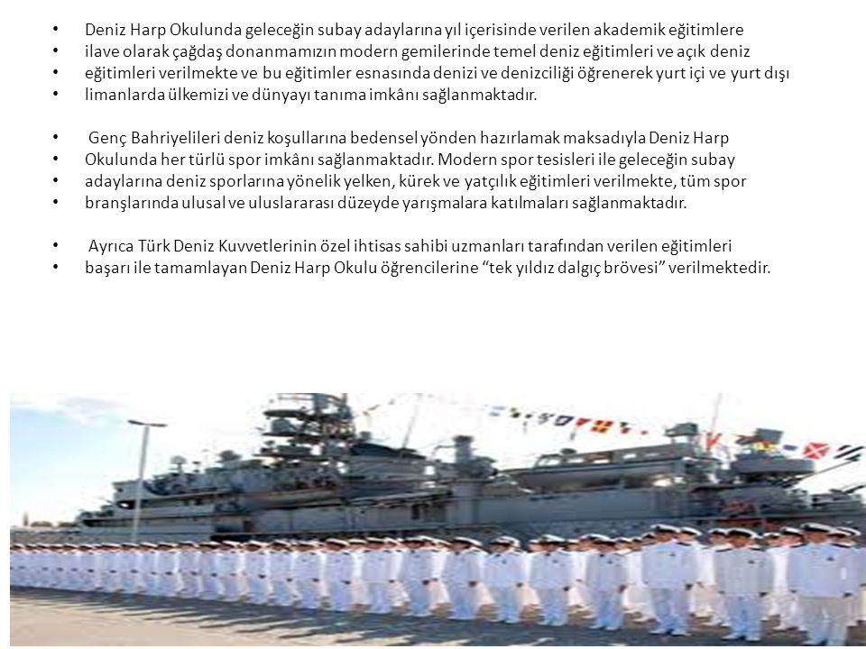 Deniz Harp Okulunda geleceğin subay adaylarına yıl içerisinde verilen akademik eğitimlere