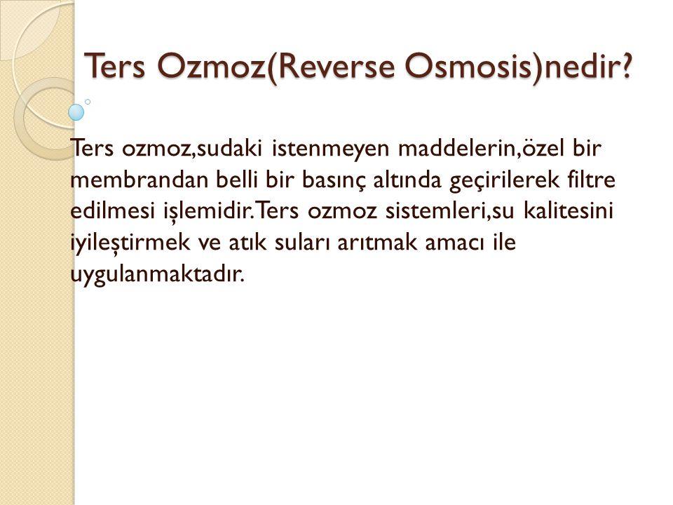 Ters Ozmoz(Reverse Osmosis)nedir