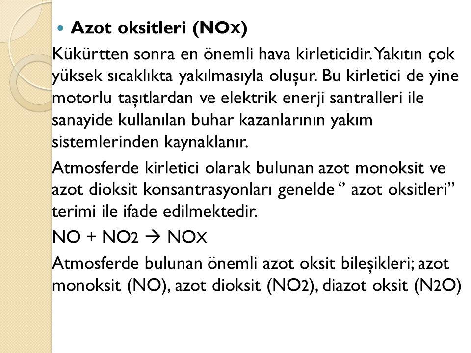 Azot oksitleri (NOX)