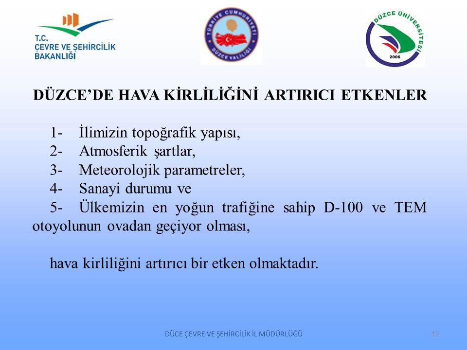 DÜZCE'DE HAVA KİRLİLİĞİNİ ARTIRICI ETKENLER