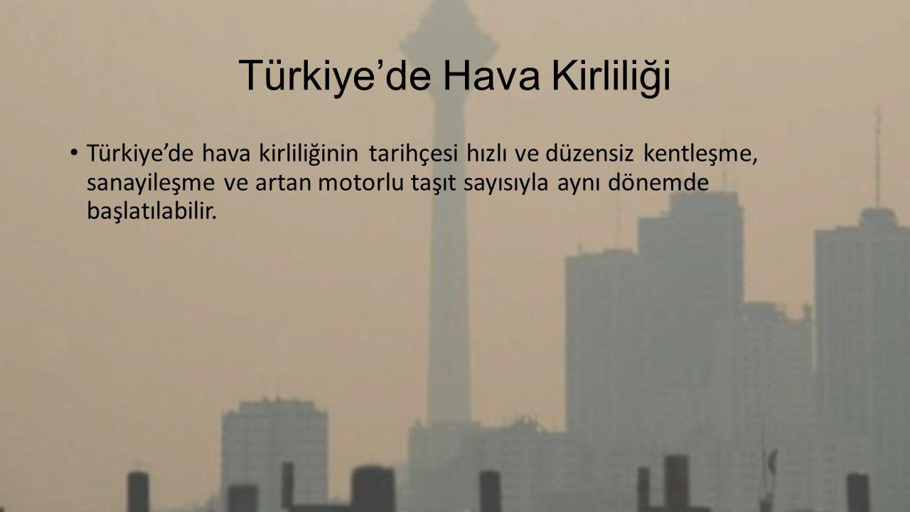 Türkiye'de Hava Kirliliği
