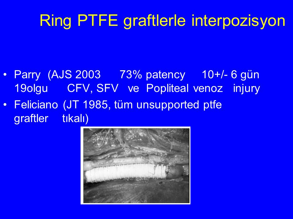 Ring PTFE graftlerle interpozisyon